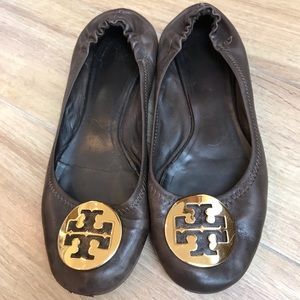 Tory Burch Chocolate Brown Ballet Flats